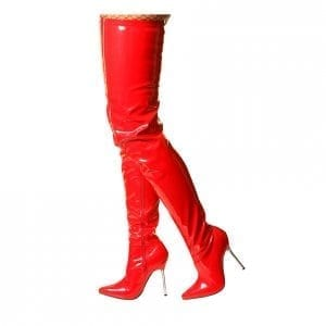 anastasia boot red